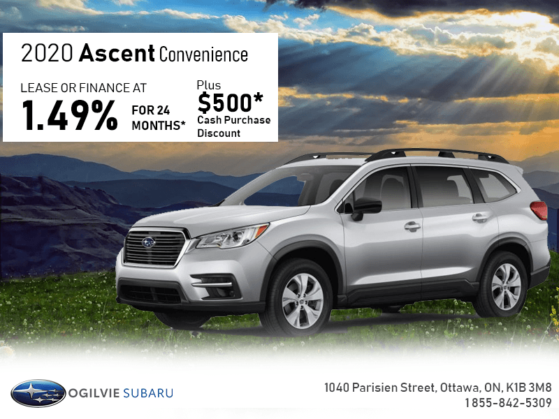 Lease The 2020 Ascent Today