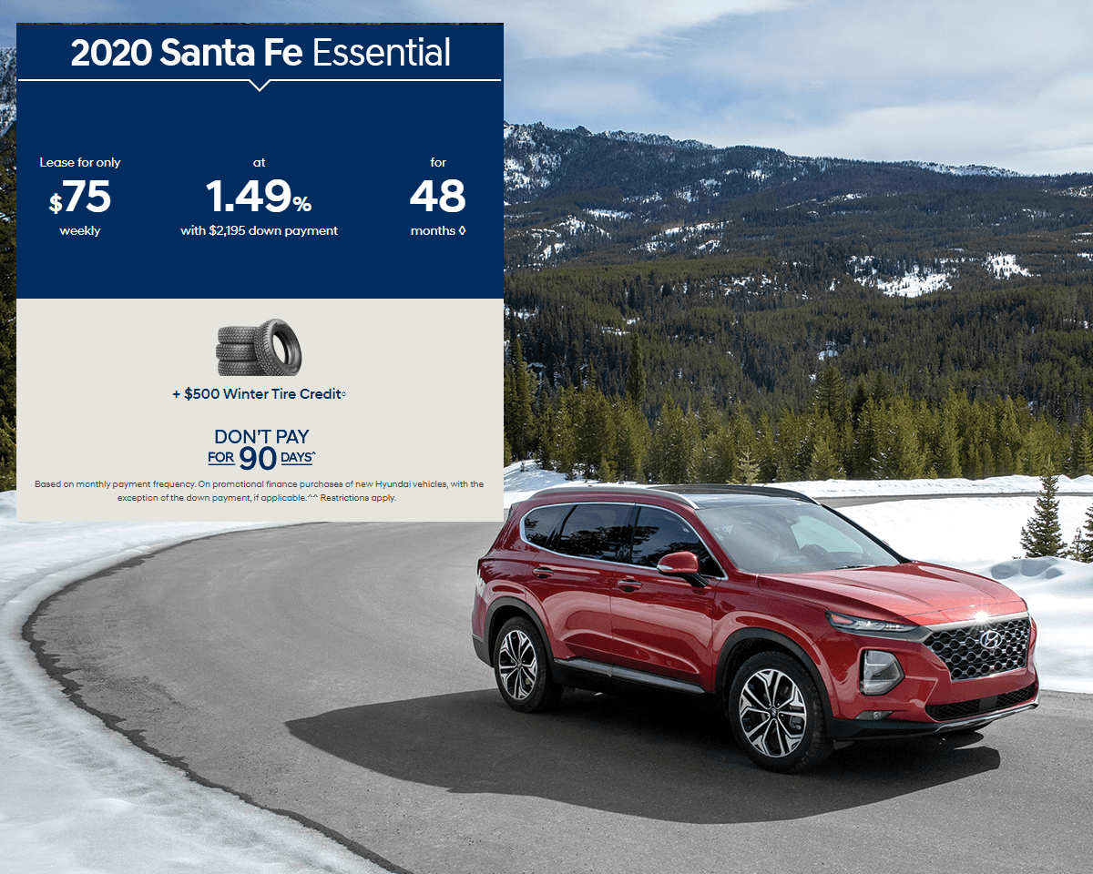 Lease the 2020 Santa Fe Today