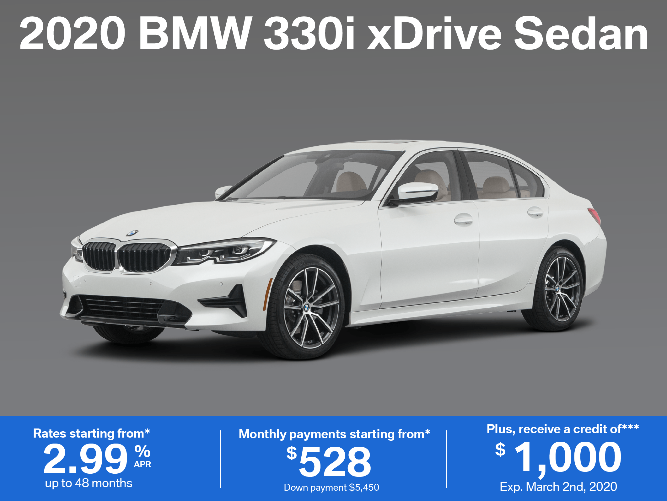 Lease the 2020 BMW 330i xDrive Sedan
