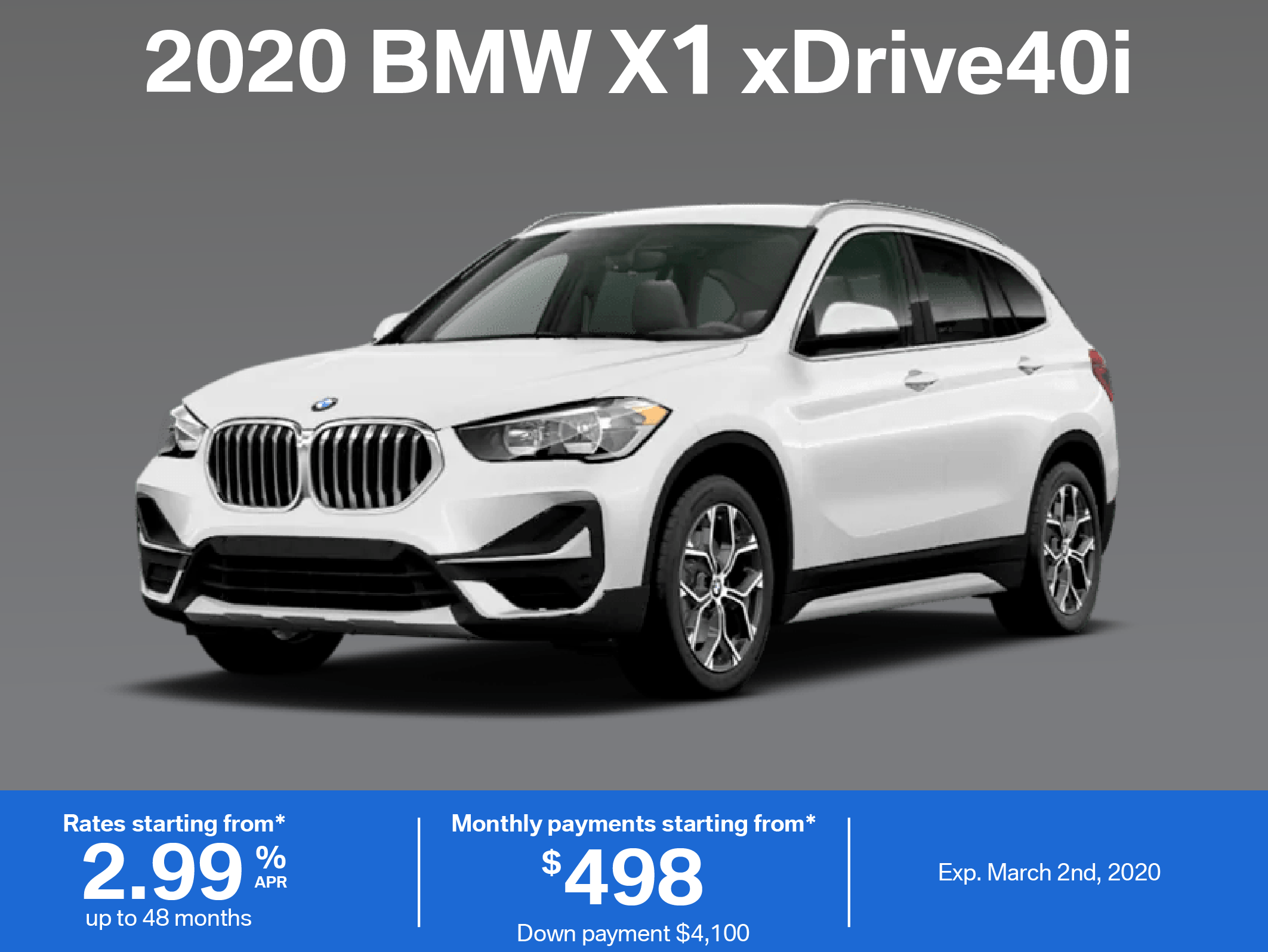 Lease the 2020 BMW X1 xDrive40i
