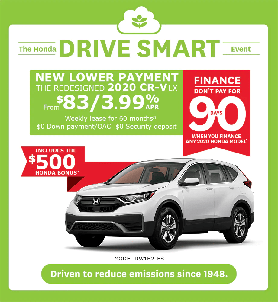NEW LOWER PAYMENT FOR THE REDESIGNED 2020 CR-V