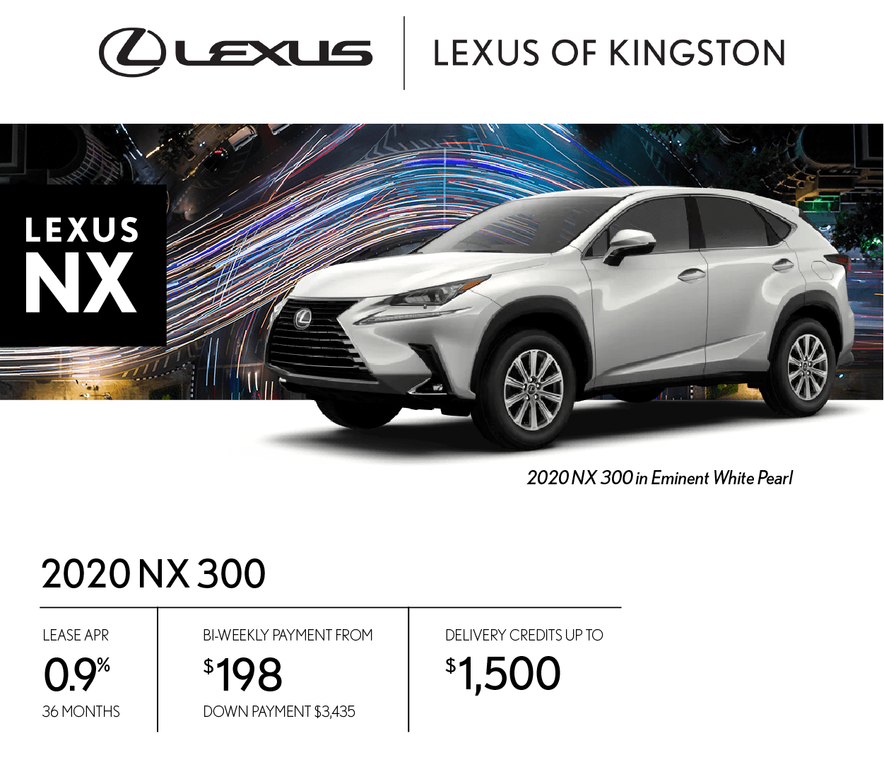 Get the 2020 Lexus NX 300 today!