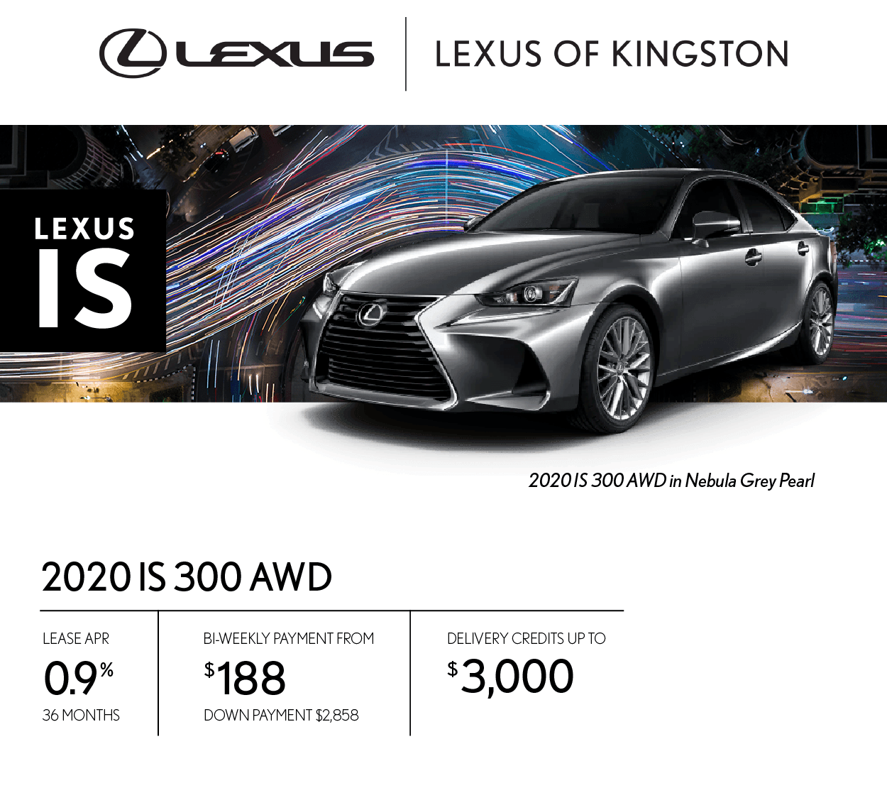 Get the 2020 Lexus IS 300 today!